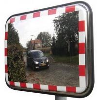 Dopravní obdélníková zrcadla z nerezové oceli