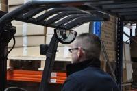 Zpětné zrcátko pro vysokozdvižné vozíky